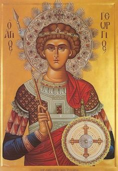 Orthodox icon of Saint George, Great-martyr, Victory-bearer and Wonderworker Commemorated April Byzantine Art, Patron Saints, Orthodox Icons, Knights Templar, Religion, Image Search, Spirituality, Inspire, God