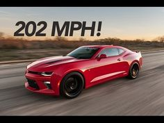 Watch the 2016 Hennessey Chevrolet Camaro SS Hit 202 MPH - Motor Trend