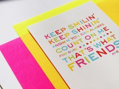 KEEP SMILIN´ KEEP SHININ´- Freunde Postkarte  heavenandpaperDesign