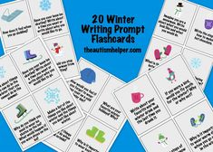 Winter Writing Prompt Flashcard! Use these prompts with a notebook for some awesome writing activities! by theautismhelper.com
