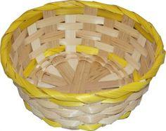 RZOnlinehandel - Osterkorb ca. 19 cm rund Natur/Gelb Laundry Basket, Wicker Baskets, Home Decor, Basket, Round Round, Easter Activities, Decorating, Nature, Decoration Home