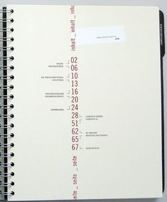 I think this is interesting way to display the table of contents as it runs down the page. I like the brackets because it helps you see where the contents begins and ends within the editorial. Its simple, but straight forward.