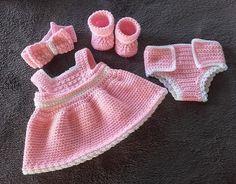 super ideas for baby born patronen gratis breien Knitting Dolls Clothes, Crochet Doll Clothes, Knitted Dolls, Baby Born Clothes, Girl Doll Clothes, Barbie Clothes, Gilet Crochet, Crochet Baby, Muñeca Baby Alive