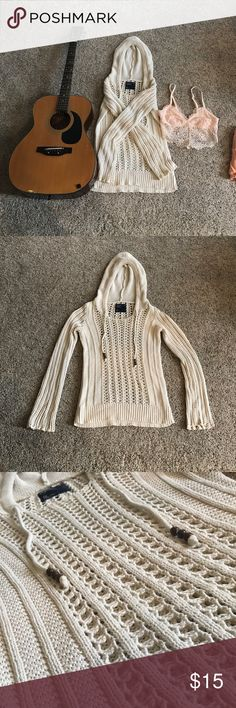 Boho Crochet knit sweater Super cute with bralette and can be used to cover swimsuit! I would wear this year around! Excellent condition! Price negotiable!!! American Eagle Outfitters Sweaters