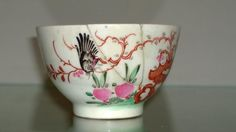 Scarce Georgian Lowestoft  Redgrave Blackbird Porcelain Tea Bowl 1775  £42