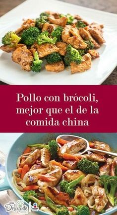 Pollo con brócoli, mejor que el de la comida china (receta fácil) Enjoy chicken with broccoli in your own home and delight everyone with this delicious stew of Chinese restaurants. Easy Chinese Recipes, Asian Recipes, Mexican Food Recipes, Healthy Recipes, Comida Diy, Pollo Recipe, Deli Food, Good Food, Yummy Food