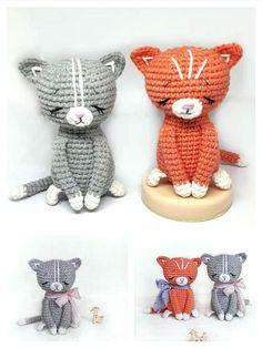 Crochet Monkey Pattern, Crochet Patterns Amigurumi, Crochet Toys, Knitting Patterns, Step By Step Crochet, Learn To Crochet, Free Pattern, Craft Projects, Kitten