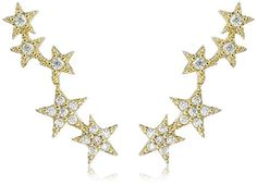 Tai Gold Star Climber Stud Earrings * To view further for this item, visit the image link.