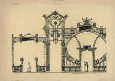 Mintalap - kerítésrács terve az 1900. évi párizsi világkiállítás német bányászati és kohászati csoportjából