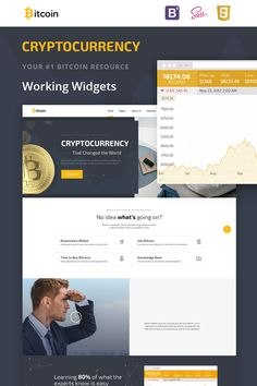 Website Template , Bitcoin Cryptocurrency Responsive