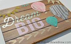Dream Big Wood Connection Sign #modernnursery #summerinthecity