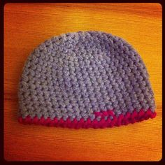 Just knitted! #beanie #wool #grey #pink #handmade