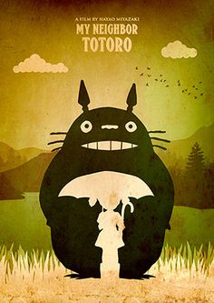 Jahrgang My Neighbor Totoro Hayao Miyazaki Minimalist von TopPoster