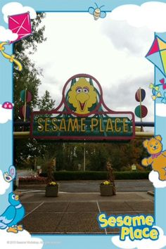 This is a great Photo! This is one of our many Free Frames that you can use when you take a picture using the Sesame Place iPhone App. Sesame Place, Langhorne PA. Looks like fun for little ones!