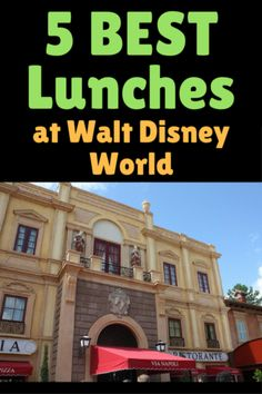 Overwhelmed at all the dining choices at Disney World? Here are the 5 best places to grab lunch. #2 is so much stinking fun