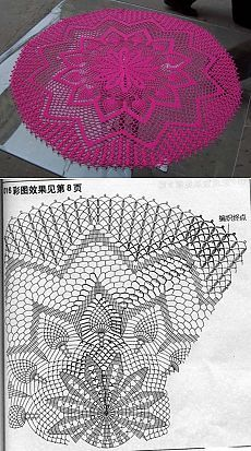 Luty Artes Crochet Centro De Tapetes Crochet Crochet Doilies y Filet Crochet, Crochet Doily Diagram, Crochet Doily Patterns, Thread Crochet, Crochet Motif, Crochet Stitches, Knitting Patterns, Crochet Carpet, Crochet Home
