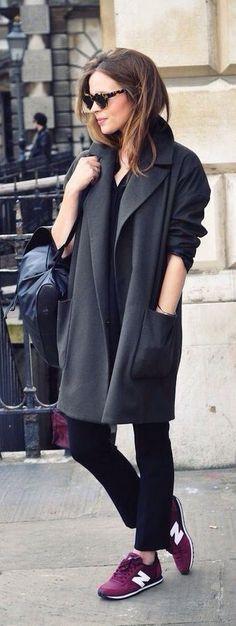 Oversized παλτό + New Balance sneakers -  Sunday Look: Oversized παλτό | stylenotes.gr