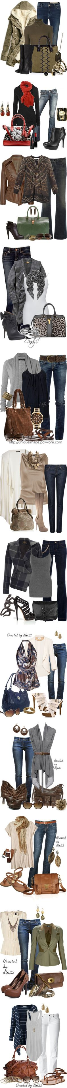 """""""Jean Outfits 03"""" by msbeckyg ❤ liked on Polyvore"""