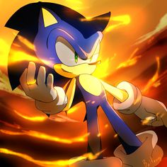One Hour Sonic - Sonic and Flame of Judgment by Baitong9194.deviantart.com on @deviantART