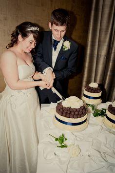 Amazing wedding cake! Chocolate and cherry kirsch gateux and homemade truffles... Mmmmm...
