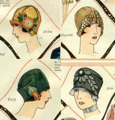 The Vintage Pattern Files: 1920's Sewing - Cloche Hats