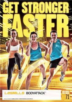 Les Mills BODYATTACK® is a high-intensity cardio workout designed to build strength and stamina. #lesmills