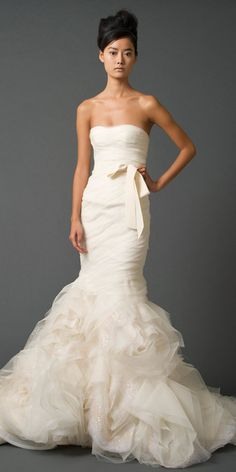 I could go for this one to. #bridal Vera Wang Gemma fall 2011
