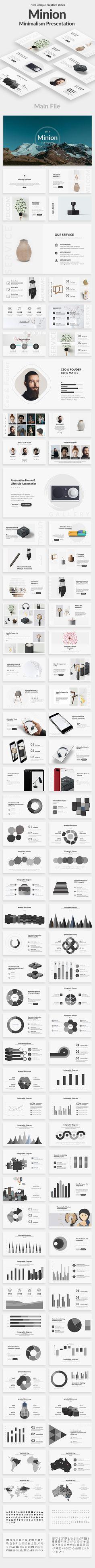 Minion Minimal Powerpoint Template - Creative PowerPoint Templates
