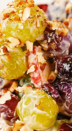 Creamy Vanilla Grape & Apple Salad