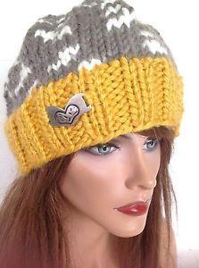 Beanie Slouch Hand Knit Hat Designer Fashion Antiqued Gold Heart Hip Chic Trendy | eBay