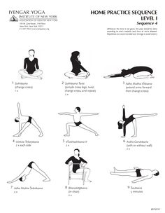 Iyengar Yoga Institute of New York Home Practice Sequence Level 1 Sequence 4