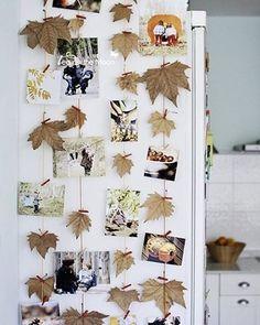 Misture as fotos com folhas ou flores secas