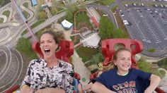 Watch Natalie Morales soar, scream on roller coaster: 'So much drool!'