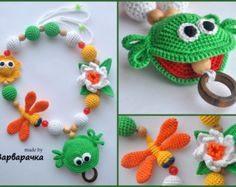Teething necklace / Breastfeeding Necklace for by ForYourHappyBaby