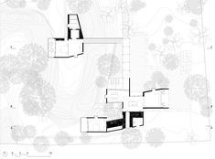 House on a Stream - Architecture BRIO ground floor plan #architecturedrawing