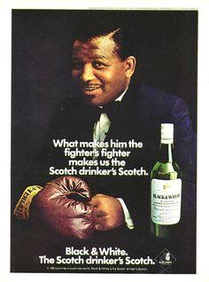 Scotch ad with Sugar Ray Robinson