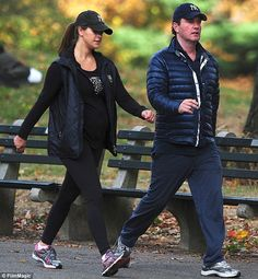 Five-months-pregnant Princess Madeleine shows off her bump in tight workout clothes on Central Park stroll with her husband, financier Christopher O'Neill, a Partner at investment firm Noster Capital. The lovely Princess works for the World Childhood Foundation, a non-profit group founded by her mother, Queen Silvia.