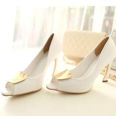 Charming Stiletto Heels Peep Toes Wedding Shoes 10796074 - Wedding Shoes - Dresswe.Com
