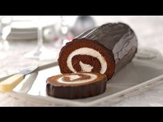 Chocolate Cake Roll Recipe - YouTube