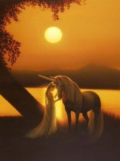 Giclee Print: Enchanted Evening by Kirk Reinert : Unicorn Fantasy, Enchanted Evening, May Flowers, Woodland Creatures, Find Art, Framed Artwork, Giclee Print, Fine Art Prints, Gallery