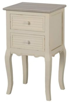 Beachcrest Home Nachttisch Shorehaven Cube Side Table, Round Side Table, 3 Drawer Bedside Table, Nightstand, Bedside Tables, Shabby Chic Style, Shabby Chic Decor, Wood Bedroom, Hazelwood Home