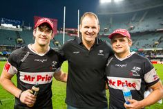 Coach John Plumtree with Keegan Daniel and Patrick Lambie Rugby Sport, Reebok, Guys, Sports, Hs Sports, Excercise, Rugby, Boyfriends, Sport