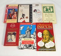 Lot of 7 Classics Literature Fiction Paperback Books~ William Shakespeare
