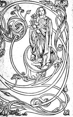 Gallery Images of Art Novue. Art Nouveau Graphic