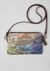 VIDA Leather Statement Clutch - into the depth of blue by VIDA tYKE5Offm