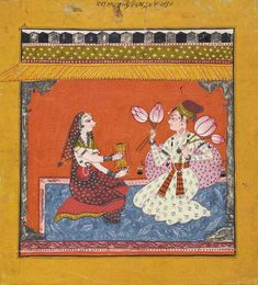 Raga Madhava: as in Bees Drawn to a Lotus, a sweet spring raag. Bahu, India ca. 1720. Reitberg.