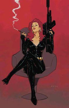 The Black Widow Natasha Romanoff by Dave Seguin Comic Book Characters, Marvel Characters, Comic Character, Comic Books Art, Female Characters, Character Design, Marvel Dc, Marvel Comics Art, Bd Comics
