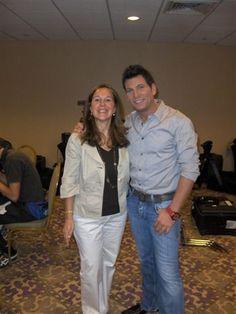 Wendy Taffet and David Tutera filming an episode of My Fair wedding