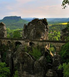 Amazing Bastei Bridge, Elbe Sandstone Mountains – Germany