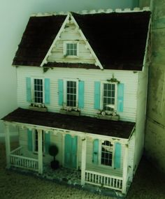 dollhouse /Own the house I grew up in. (It really did look like a doll house, I love it!)